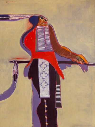 Fritz Scholder, 'Wooden Indian', 1972