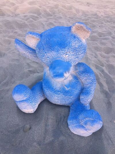Daniel Arsham, 'Blue Gradient Teddy Bear (Large)', 2017