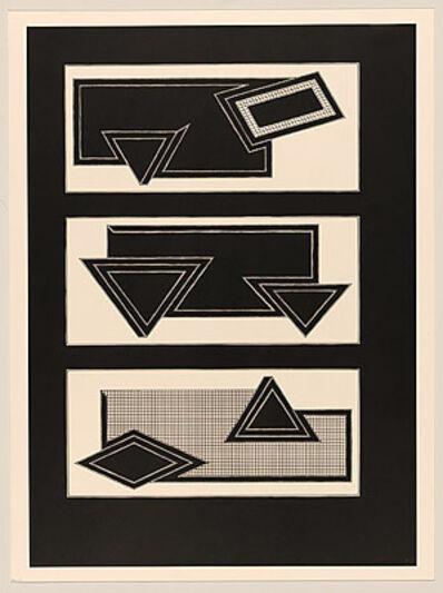 Frank Stella, 'Black Stacks', 1970