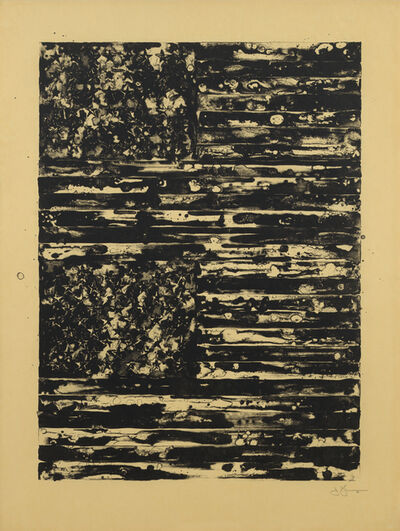 Jasper Johns, 'Two Flags', 1980