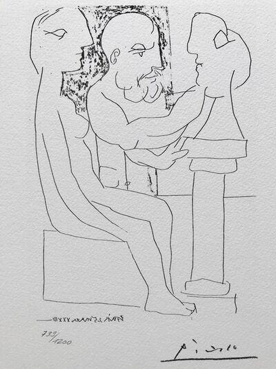 Pablo Picasso, 'Vieux sculpteur au travail I (Suite Vollard Planche XLVII)', 1973