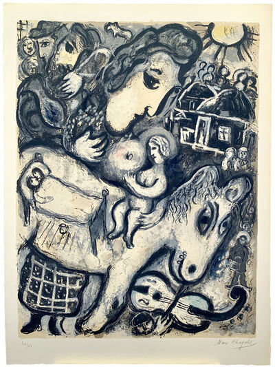 Marc Chagall, 'Village gris (2nd state)', 1964