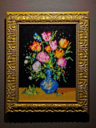 Roman Vitali, 'Flores en un vaso Wan-Li', 2019
