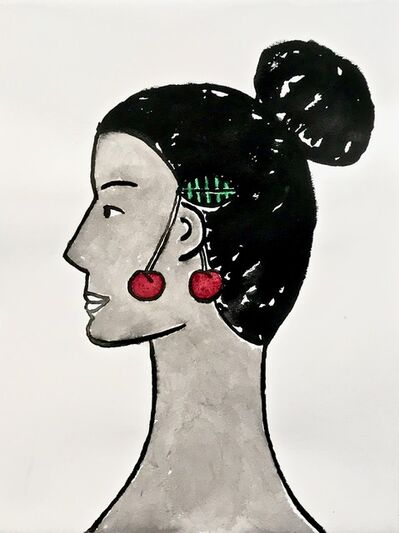 Carissa Potter, 'Lady with Cherry Earrings', 2019