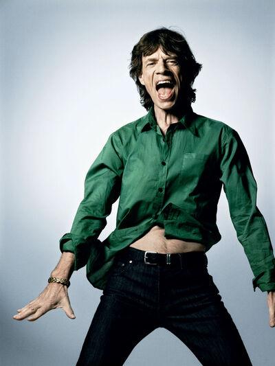 Bryan Guy Adams, 'Sir Mick Jagger (Green Shirt)', 2008