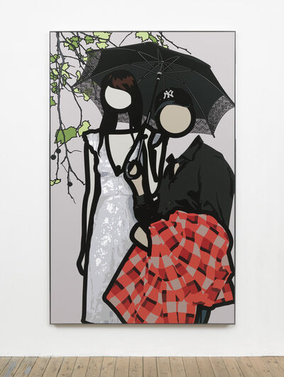 Julian Opie, 'At the gardens with Ken and Yayoi', 2011