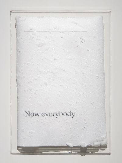 Cédric Maridet, 'Now everybody -', 2016
