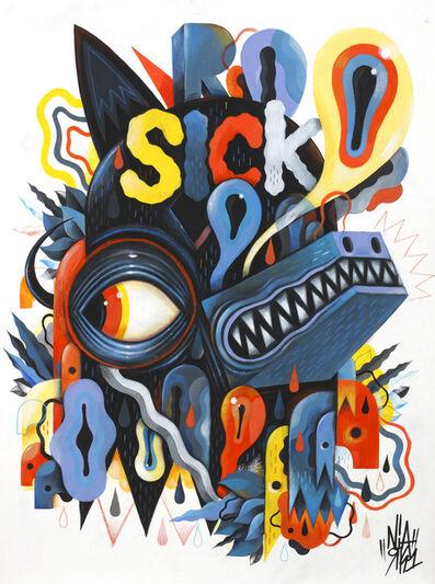 Niark1 Sebastien Feraut, 'Sick Wolf', 2015