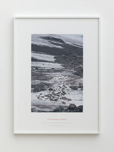Richard Long, 'Throwing Stones', 2012
