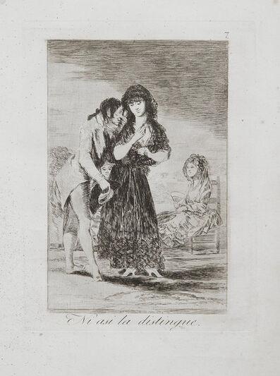 Francisco de Goya, 'Ni Asi La Distingue', 1799