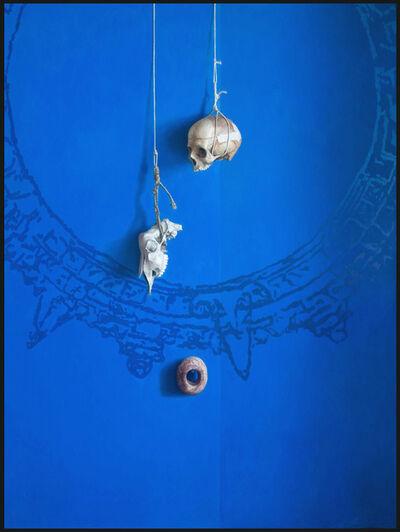PABLO SANTIBÁÑEZ SERVAT, 'SKULLS OVER BLUE', 2013