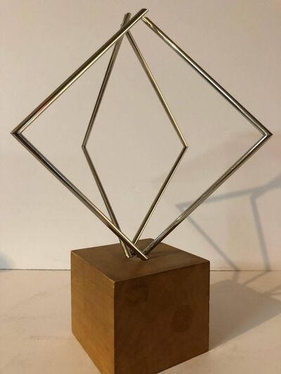 Yaacov Agam, 'Rare Israeli Agam Sculpture Steel Wood 'From Lines to Forms' Signed Paris 1967', 1970-1979
