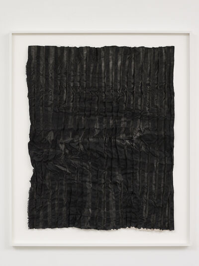 Edith Dekyndt, 'Burned Pieces (light beige linen from Berlin)', 2020