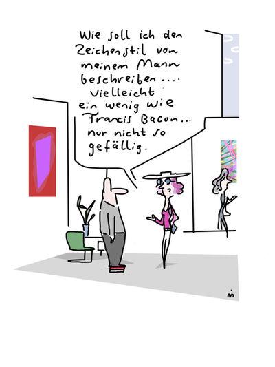 Dirk Meissner, 'Wie soll ich den Zeichenstil von meinem Mann beschreiben?', 2018