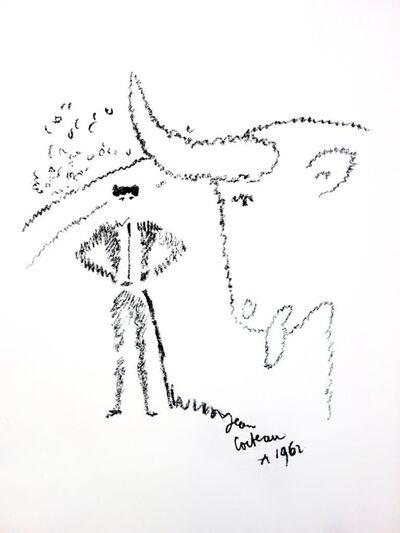 """Jean Cocteau, 'Original Lithograph """"Portrait of a Bull"""" by Jean Cocteau', 1965"""