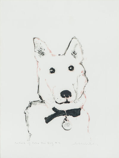 Fritz Scholder, 'Portrait of Felix the Dog #2', 1987