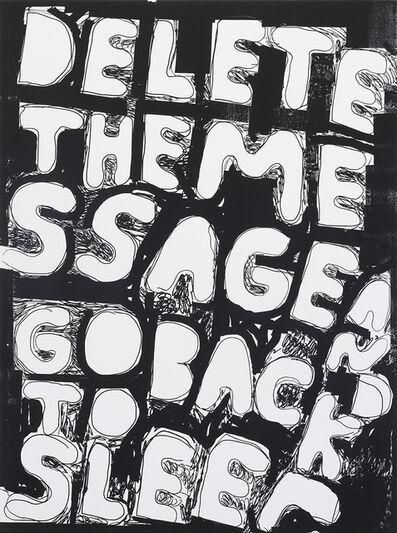 Stefan Marx, 'Delete The Message (Positive)', 2020