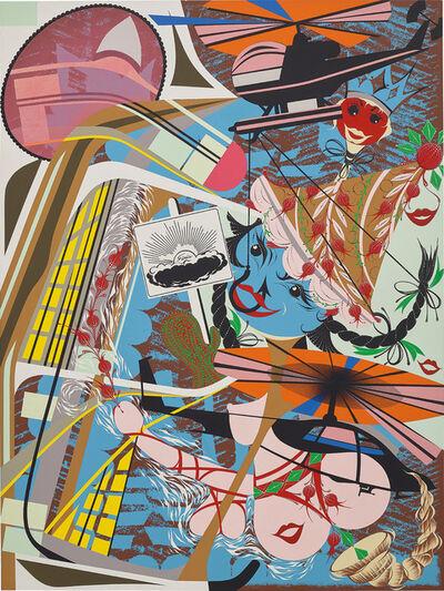 Lari Pittman, 'Like you, expansive but capable of pining away', 1995