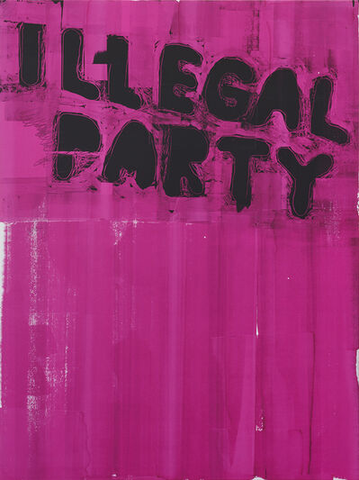 Stefan Marx, 'Illegal Party (Magenta)', 2020
