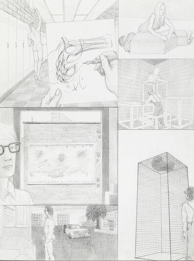 Jim Shaw, 'Dream Drawing: In a high school hallway', 1995