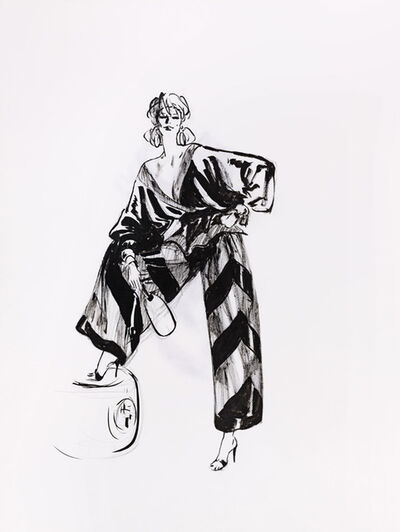 René Gruau, 'Pyjama du soir, Valentino'