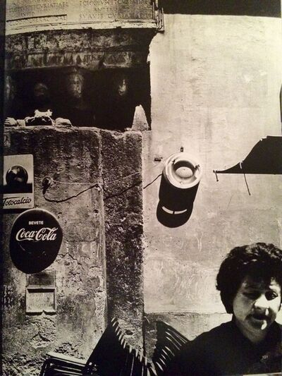 William Klein, 'Jewish Ghetto , Rome Wall+Woman, 1956', 1956
