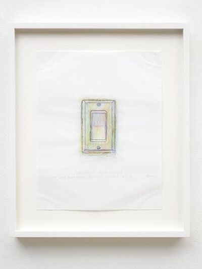 Do Ho Suh, 'Rubbing/Loving Project: Light Switch, Apartment A, 348 West 22nd Street, New York, NY 10011, USA', 2014