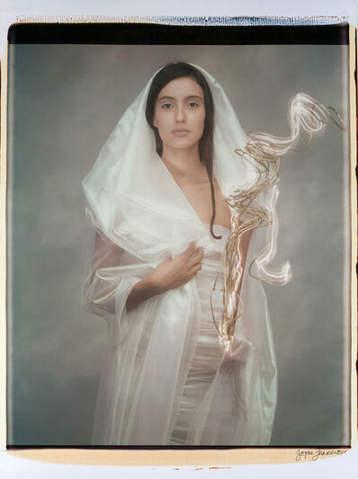 Joyce Tenneson, 'Woman with Lit Branch', 1992