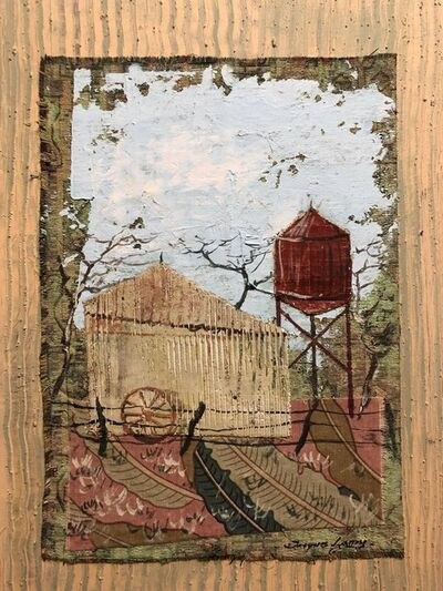 Jacques Lamy, 'Mixed Media Farmhouse, Barn Oil Painting Collage', 20th Century