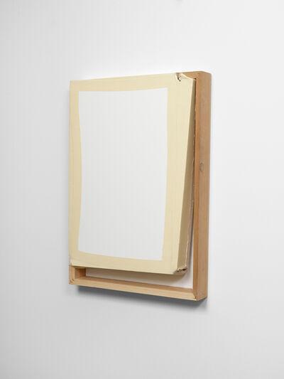Angela de la Cruz, 'Tight (White/Off White)', 2013
