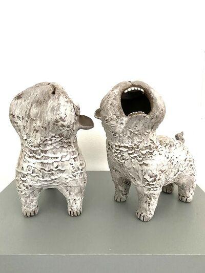 Kenjiro Kitade, 'Set of Dark Ceramic Dogs: 'Guardian Foo Dogs'', 2020