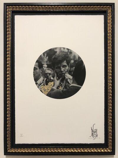 Nina Mae Fowler, 'Bull (Fever) - Gold Leaf Embellishments - Framed', 2011