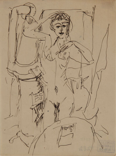 Ernst Ludwig Kirchner, 'Stehendes nacktes Mädchen am Ofen (Naked Girl standing at the Stove)', 1914