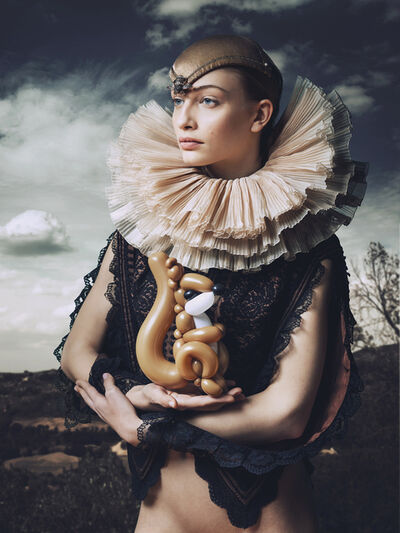 Josef Fischnaller, 'Lady with Squirrel', 2020