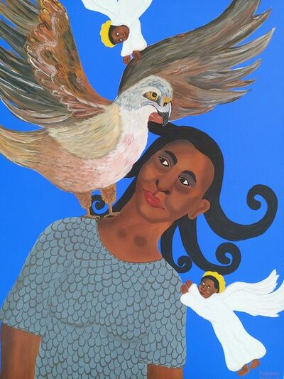 Phindile Mamba, 'The angels help fight my oppression', 2021
