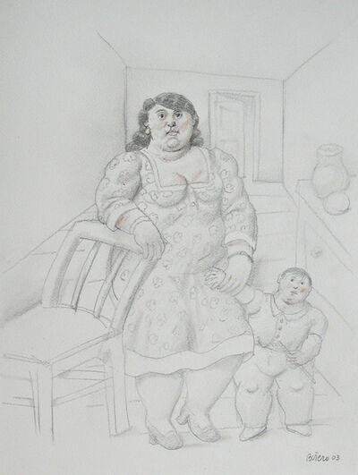 Fernando Botero, 'Donna con bambino', 2003
