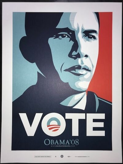 "Shepard Fairey, 'Obama ""Vote"" ', 2008"
