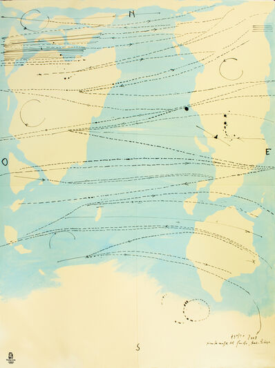 Piero Pizzi Cannella, 'Little World Map Rome Peking, Olympic Games Beijing 2008', 2008