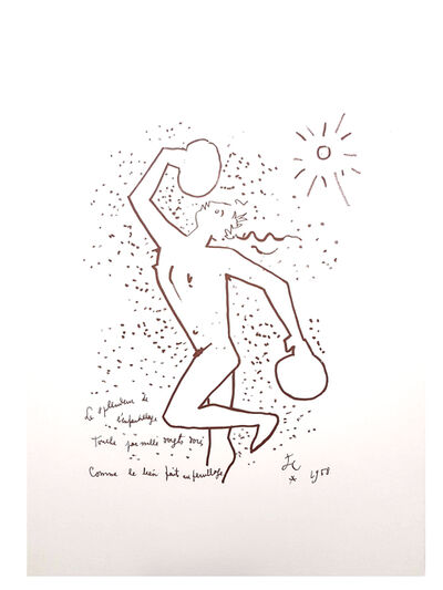 "Jean Cocteau, 'Original Lithograph ""The Boxer"" by Jean Cocteau', 1958"