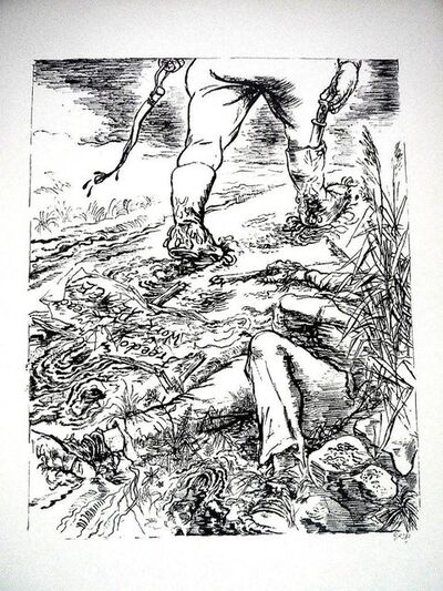 """George Grosz, '1936 Lithograph """"Freedom"""" small edition', 1936"""