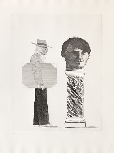 David Hockney, 'Student : Homage to Picasso (The)', 1973