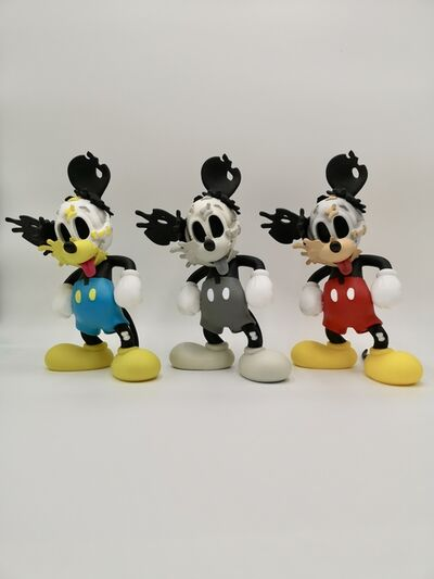 "GONDEKDRAWS ""Matt Gondek"", 'MATT GONDEK DECONSTRUCTED MOUSE VINYL FIGURE MICKEY ', 2018"