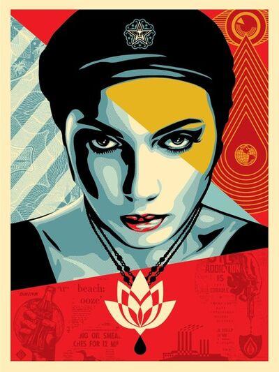 Shepard Fairey, 'Oil Lotus Woman', 2018