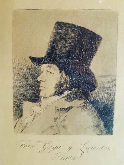 Francisco de Goya, 'Franco Goya y Lucientes Pintor', 1855