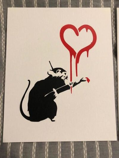 "Banksy, 'BANKSY DISMALAND ""LOVE RAT"" WITH COA', 2015"