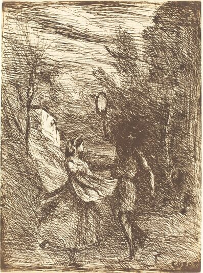 Jean-Baptiste-Camille Corot, 'Saltarello (Saltarelle)', 1858