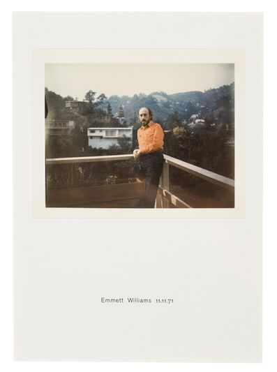 Richard Hamilton, 'Polaroid Portrait, Emmett Williams 11.11.71', 1971/2010