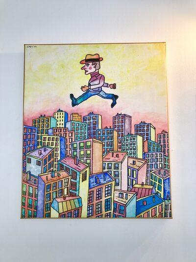 Antonio Seguí, 'Hombre Sobre la Ciudad', 1987