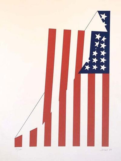 Jim Jacobs, 'Folded American Flag Silkscreen Print.', 1980