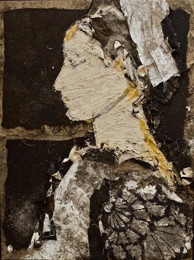 Manolo Valdés, 'Perfil Sobre Fondo Negro', 2015